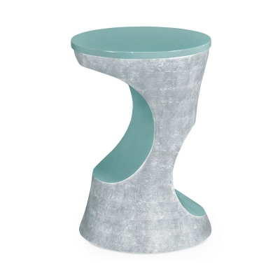 Jonathan Charles Indochine Silver Round Lamp Table
