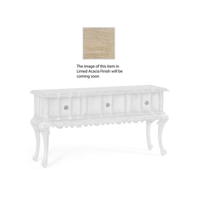 Jonathan Charles Rectangular Console Table in Limed Acacia with Drawers