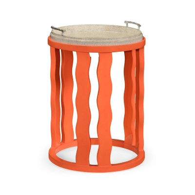 Jonathan Charles Persimmon Side Table with Reversible Top