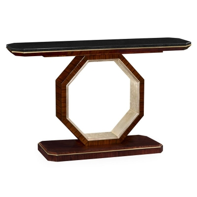 Jonathan Charles Console Table with Black Marble Top