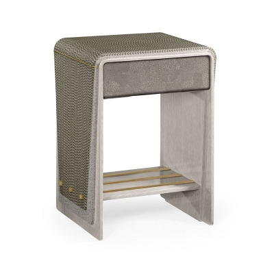 Jonathan Charles Grey Italian Layer End Table