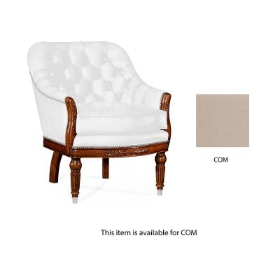 Jonathan Charles Mahogany Club Chair Upholstered in COM