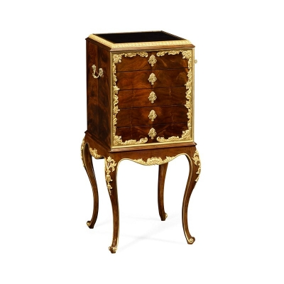 Jonathan Charles Flatware Cabinet with Gilt Carved Detailing