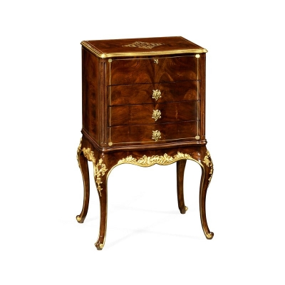 Jonathan Charles Jewelry Cabinet with Gilt Carved Detailing