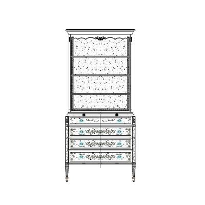 Jonathan Charles Tall Bookcase