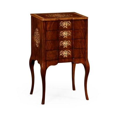 Jonathan Charles Vanity Jewellery Chest with Fine MOP and Marquetry Inlay