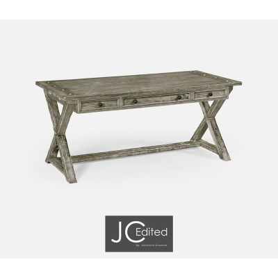 Jonathan Charles Country Living Style Desk in Rustic Grey