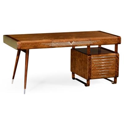 Jonathan Charles 50s Americana Pedestal Desk