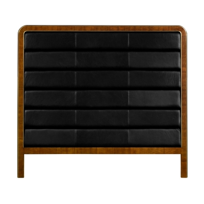 Jonathan Charles King Headboard Upholstered in Black Leather