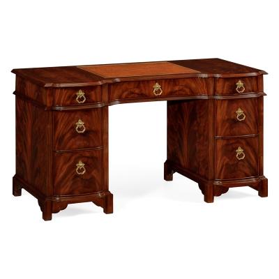 Jonathan Charles Federal Style Mahogany Kneehole Desk