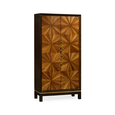 Jonathan Charles Walnut Bookmatched Cabinet