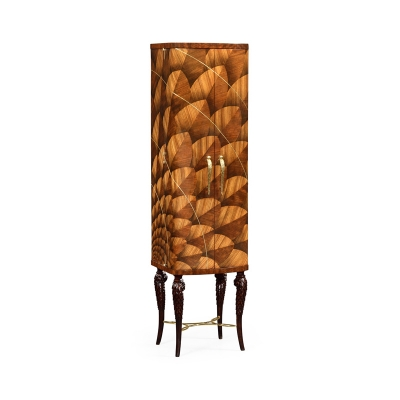 Jonathan Charles Feather Inlay Drinks Cabinet