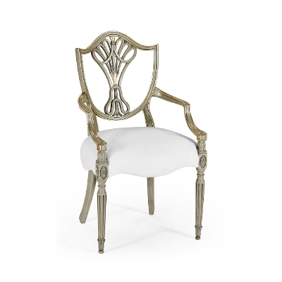 Jonathan Charles Shield Back Painted Dining Arm Chair