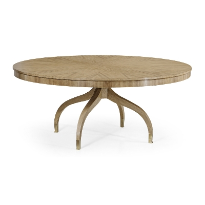 Jonathan Charles Round 72 inch Bleached Walnut Dining Table