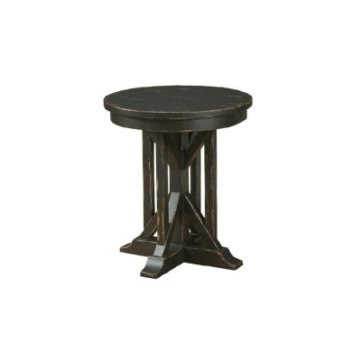 Kincaid 22 inch James Round End Table Anvil Finish