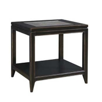 Kincaid Living Retreat End Table with Glass