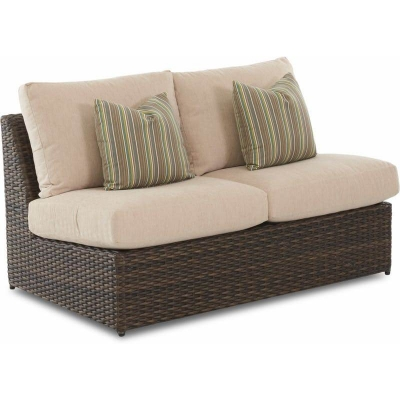 Klaussner Outdoor Armless Loveseat