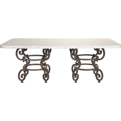 Lane Venture Florentine Round Dining Table 84 X 44 Double Pedestal
