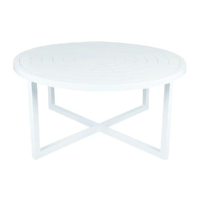 Lane Venture Round Cocktail Table Aluminum Top