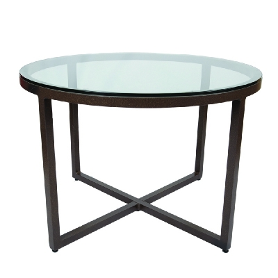 Lane Venture Round Dining Table Glass Top