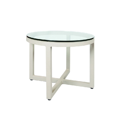 Lane Venture Round End Table Glass Top