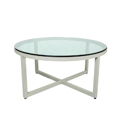Lane Venture Round Cocktail Table Glass Top