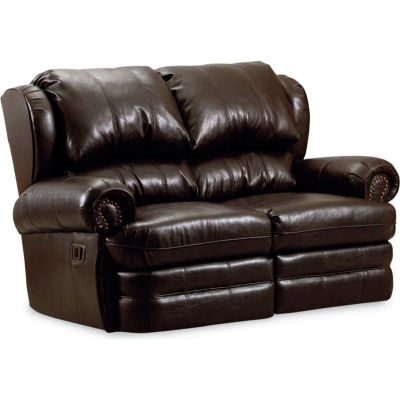 Lane 203 29 Hancock Double Leather Reclining Loveseat Discount Furniture At Hickory