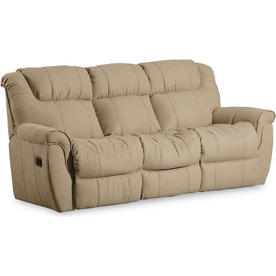 Lane 2 Arm Double Reclining Sofa With Table and 2 Motor Massage