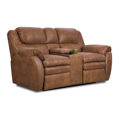Lane 294 43 Hendrix Double Reclining Console Loveseat With