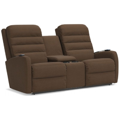 Lazboy Power Wall Reclining Loveseat with Console, Headrest and Lumbar