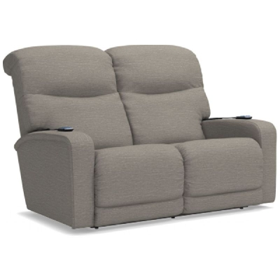 Lazboy Power Wall Reclining Loveseat with Headrest and Lumbar