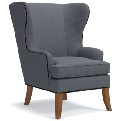 Lazboy Chair with Brass Nail Head Trim