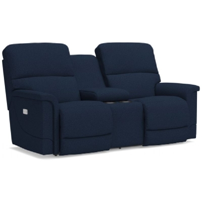 Lazboy Power Reclining Loveseat with Headrest and Console