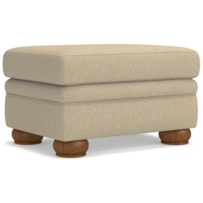 Lazboy Premier Ottoman with Brass Nail Head Trim