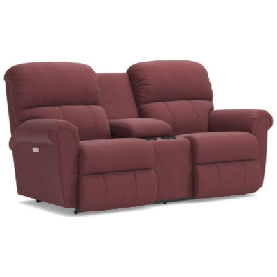 Lazboy PowerRecline La Z Time Full Reclining Loveseat with Console
