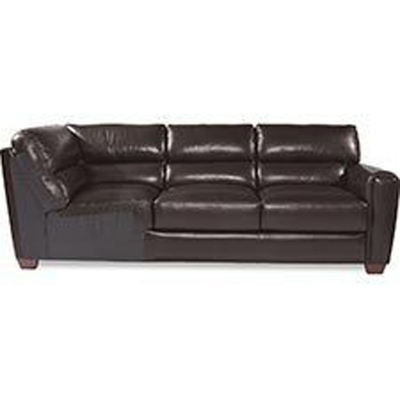 Lazboy Left Arm Sitting Leather Sofa with Corner