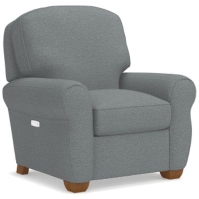Lazboy Low Profile Power Recliner with Brass Nail Head Trim