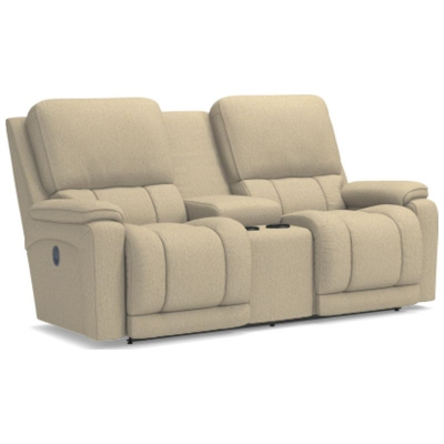 Lazboy La Z Time Full Reclining Loveseat with Console