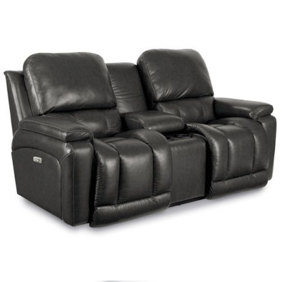 Lazboy La Z Time Power Recline With Power Headrest Loveseat with Console