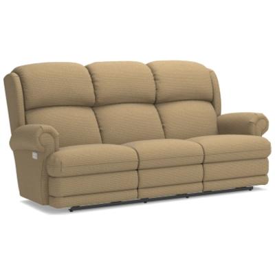 Lazboy PowerReclineXRw Full Reclining Sofa with Brass Nail Head Trim