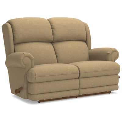 Lazboy Reclina Way Full Reclining Loveseat with Brass Nail Head Trim