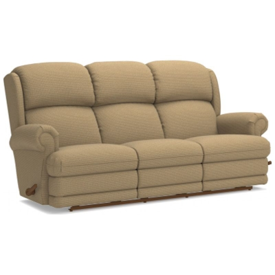Lazboy Reclina Way Full Reclining Sofa with Brass Nail Head Trim