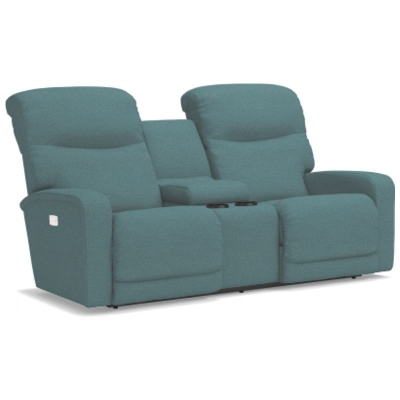 Lazboy Power ReclineXRw Full Reclining Loveseat with Console