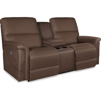 Lazboy La Z Time PowerRecline with Power Headrest Full Reclining Loveseat with Middle Console