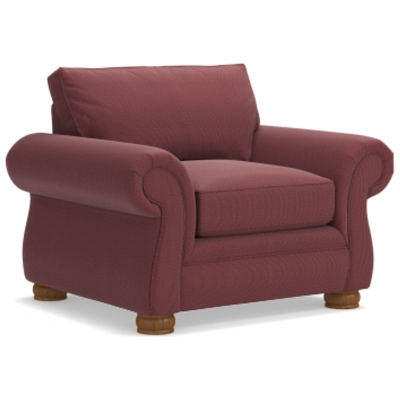 Lazboy Premier Stationary Chair with Brass Nail Head Trim