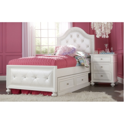 Legacy classic kids 2830 4703k madison upholstered bed for Bedroom furniture 70123