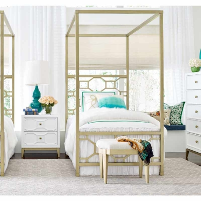 Legacy Classic Kids Metal Canopy Bed Twin