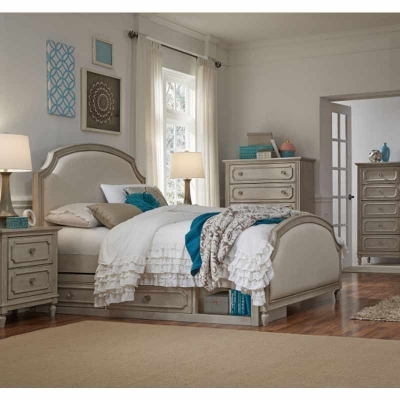 Legacy Classic Kids Complete Upholstered Panel Bed Queen