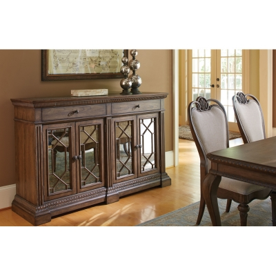 Legacy Classic Credenza with Marble Inlay
