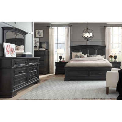 Legacy Classic Arched Panel Bed with Storage Footboard Queen